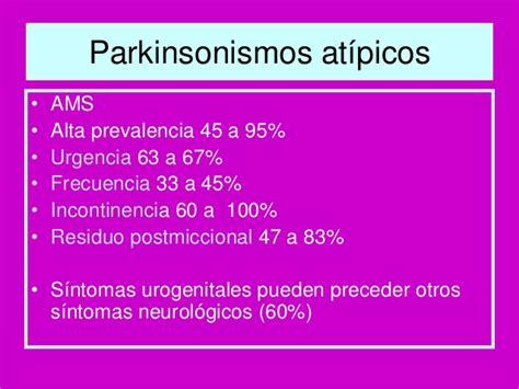 Vejiga en la enfermedad de Parkinson