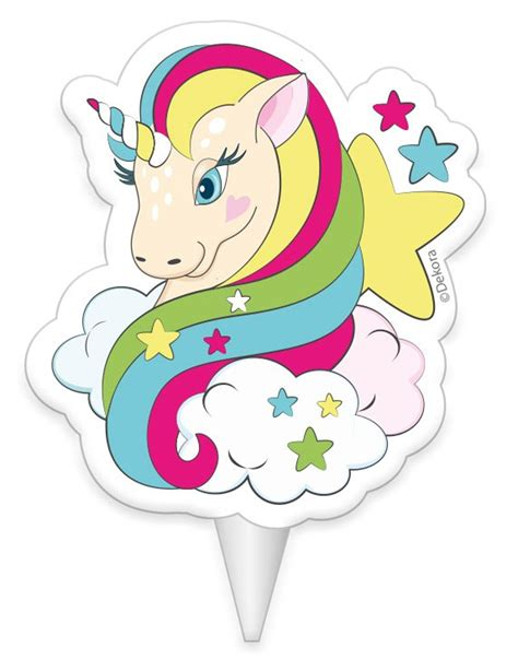 Vela de cumpleaños unicornio 8 cm: Decoración,y disfraces ...