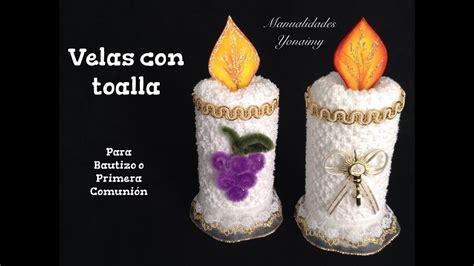 VELAS HECHAS CON TOALLAS FACIALES PARA RECUERDOS DE ...