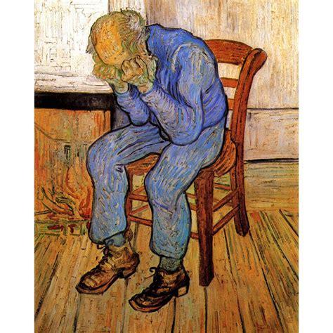 Velho na Tristeza por Vincent Van Gogh Reprodução Da ...