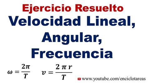 velocidad angular media fórmula