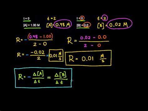 Velocidad de reacción  video  | Cinética | Khan Academy