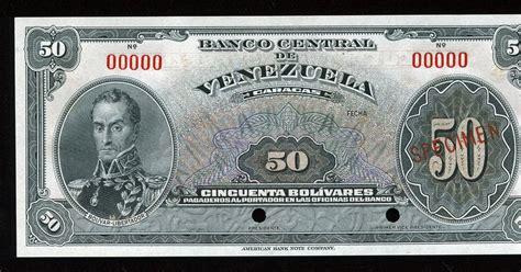 Venezuela 50 bolivares Specimen banknote|World Banknotes ...