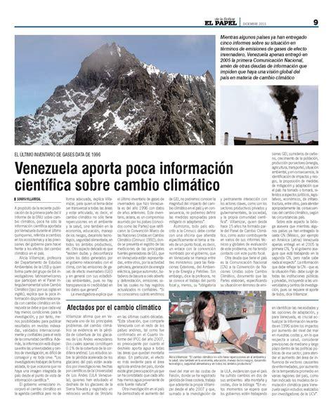 Venezuela aporta poca información científica sobre cambio ...