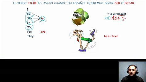 verbo to be en español explicacion   YouTube