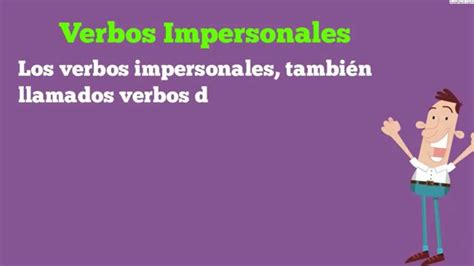 Verbos Impersonales/Verbos impersonales, recíprocos y ...