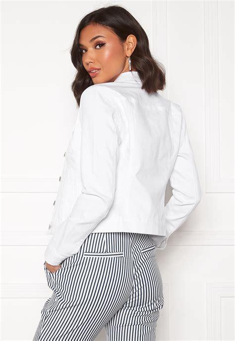 VERO MODA Hot Soya LS Denim Jacket Bright White   Bubbleroom