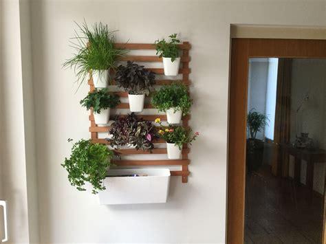 Vertical garden using spare wood and ikea's sunnersta pots ...