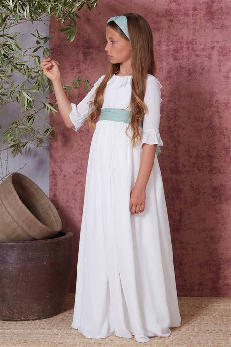 Vestido comunión 2021 Flor de C romántico y sencillo venta ...