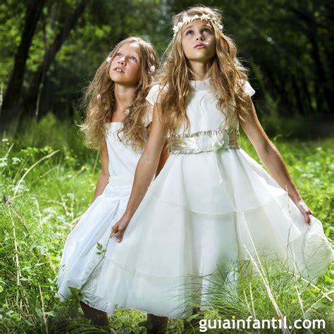 Vestido de comunión para niñas con capas   Tipos de ...