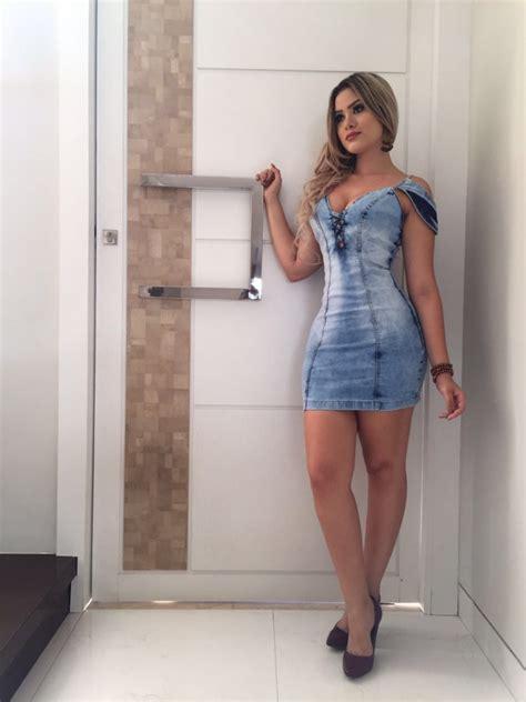Vestido Jeans Tendência Moda Feminina 2019   R$ 135,00 em ...