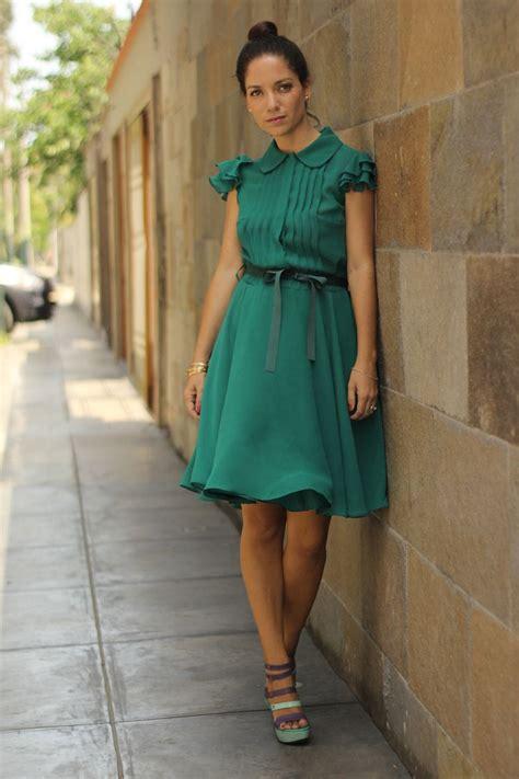 Vestido Verde Esmeralda de Roger Loayza + Zapatos LalaLove ...