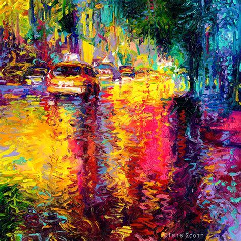 Vibrant Oil Finger Paintings by Iris Scott | Colossal