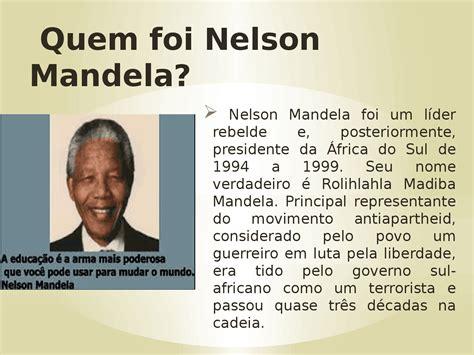 Vida de nelson mandela   Biografia de Nelson Mandela   Docsity