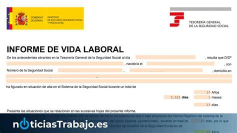 Vida laboral con certificado digital Seguridad Social ...