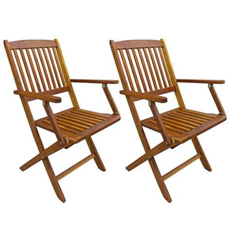 vidaXL   Juego de 2 sillas de jardín Plegables con ...