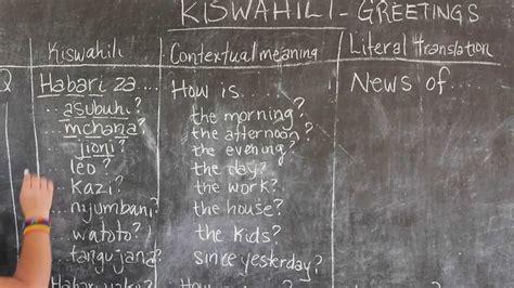 Video #2   GO! presents: BEST Swahili Tutorial   GREETINGS ...