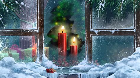 Video Background Full HD Candle In The Window   YouTube