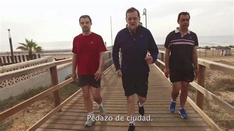 Vídeo electoral: Rajoy «camina rápido» por Torrevieja