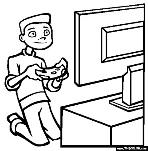 Video Games Coloring Page | Free Video Games Online ...