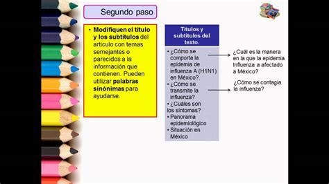 Video para Reeditar un Articulo de Divulgación  Español ...