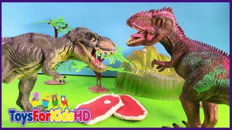 Videos de Dinosaurios Gigantosaurus v/s T Rex   Juguetes ...