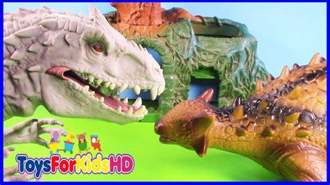 Videos de Dinosaurios para niños Indominus Rex v/s ...
