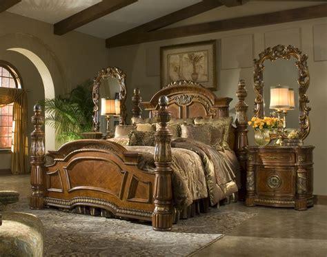 Villa Valencia Bedroom Set | 4 Poster King Bedroom Set