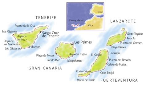 Villas in the Canary Islands: map and search