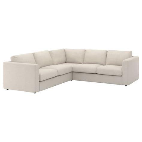 VIMLE Cover for corner sofa, 4 seat   Gunnared beige   IKEA