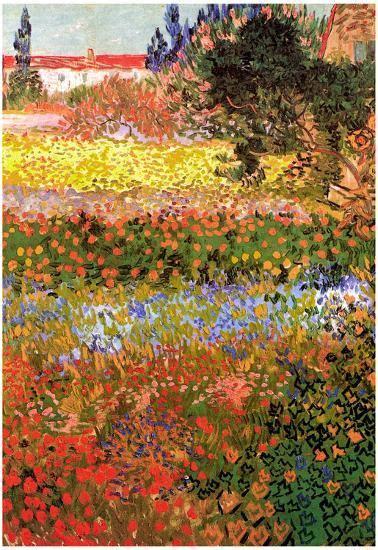 Vincent Van Gogh Flowering Garden Art Print Poster Prints ...