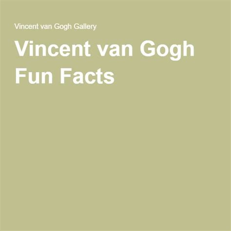 Vincent van Gogh Gallery | Vincent van gogh, Van gogh, Gogh