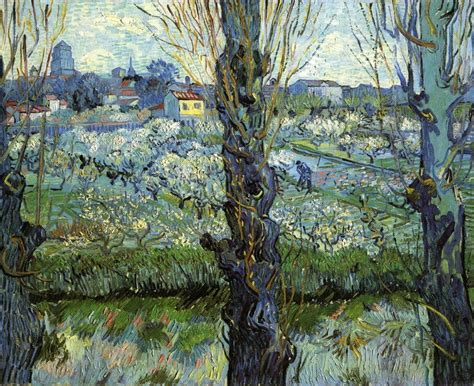 Vincent van Gogh   Orchard in Bloom with Poplars, 1889 ...