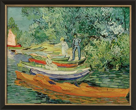 Vincent van Gogh: Painting  On the Bank of Oise in Avers ...
