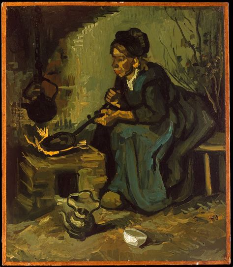 Vincent van Gogh | Peasant Woman Cooking by a Fireplace ...