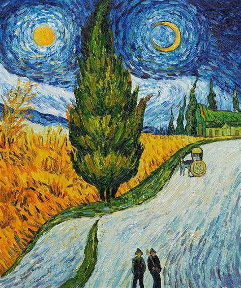 Vincent van Gogh, Road with Cypress and Star, 1890 ...