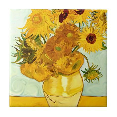Vincent Van Gogh s Yellow Sunflower Painting 1888 Tile ...