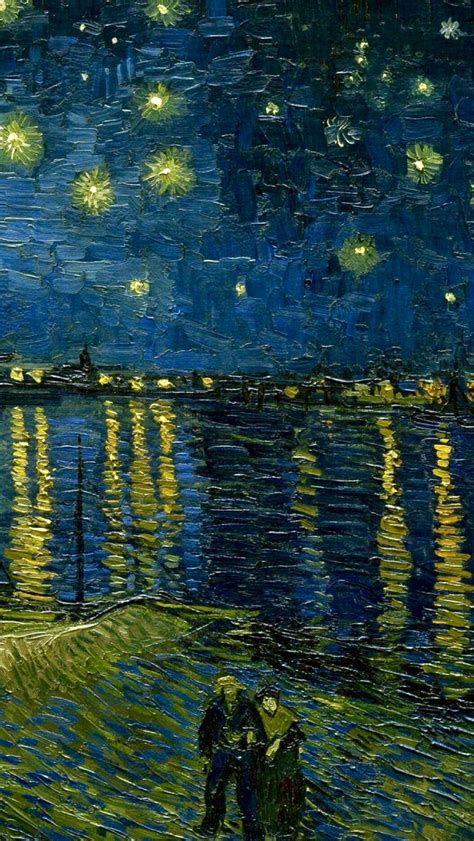 Vincent van Gogh: Starry Night Over the Rhone  1888 ...