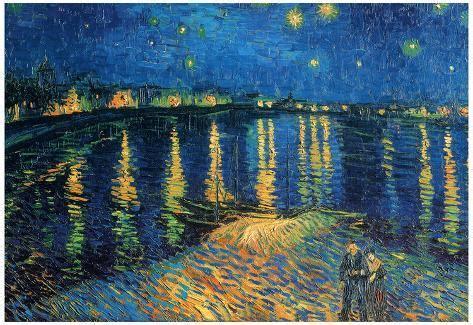 Vincent Van Gogh Starry Night Over the Rhone Art Print ...