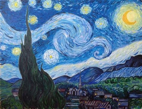 Vincent van Gogh   Starry night Painting by Marjan ...