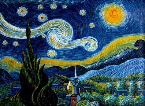 Vincent Van Gogh Starry Night Repro, Quality Hand Painted ...