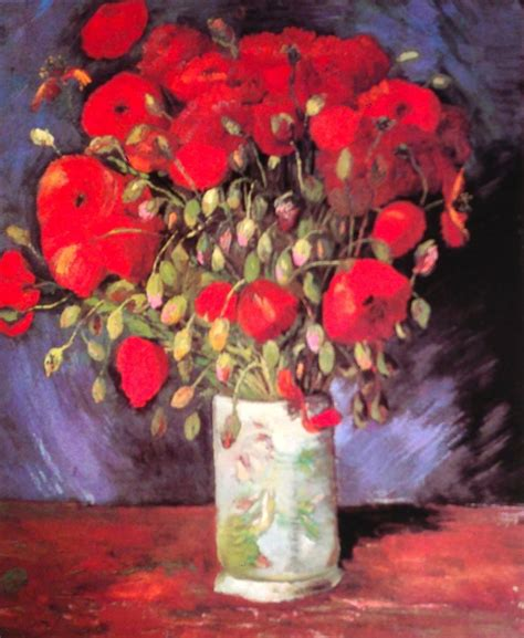 Vincent van Gogh. Vase with Red Poppies. Paris, Summer ...