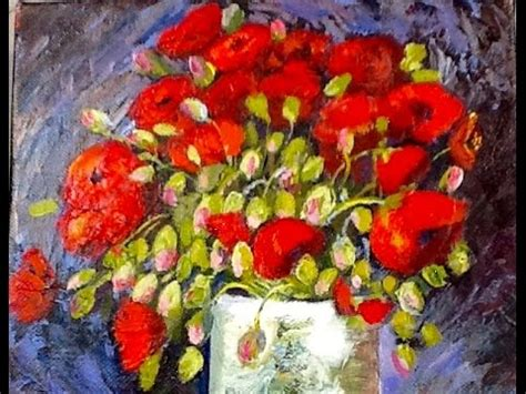 Vincent Van Gogh Vase with Red Poppies part 1   YouTube