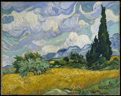 Vincent van Gogh   Wheat Field with Cypresses   The ...