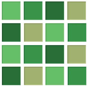 Vinilo azulejos tonos verdes   TenVinilo
