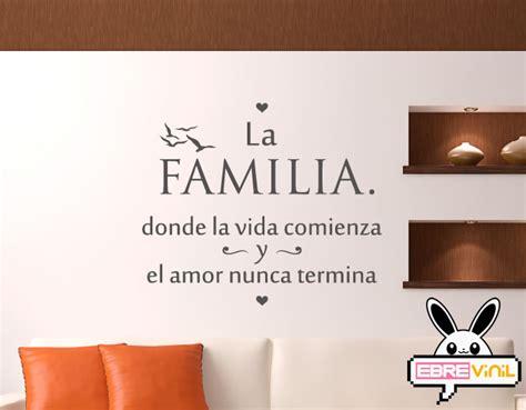 Vinilo decorativo de texto con una frase para la familia ...