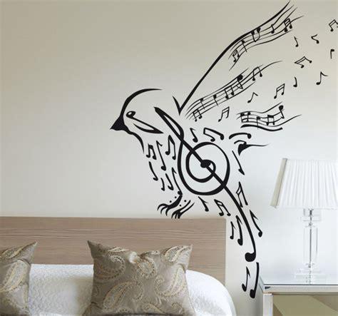 Vinilo decorativo pájaro notas musicales   TenVinilo