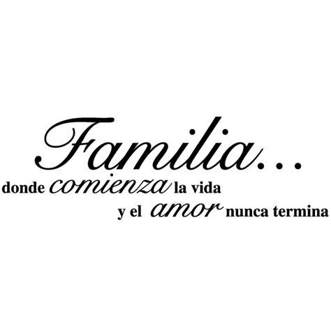 Vinilo frase amor de familia   Frase familia unida, Frases ...