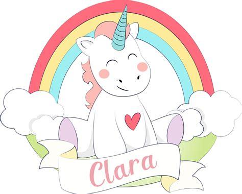 Vinilo infantil Unicornio arco iris   TenVinilo
