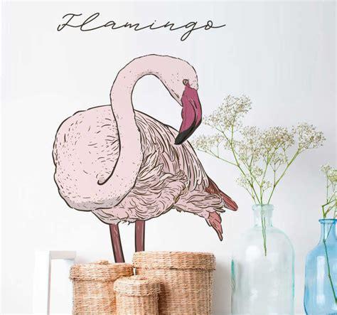 Vinilo pared Flamingo animal   TenVinilo